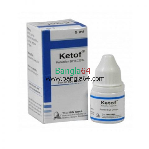 Ketof 0.025%Ophthalmic Solution